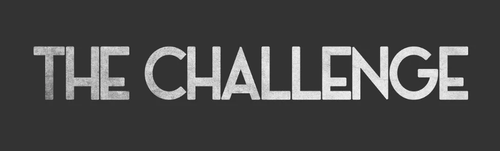"The word ""challenge"" on a gray background"